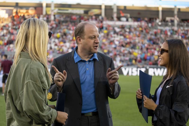 Lindsey Horan, Gov. Polis and Mal Pugh