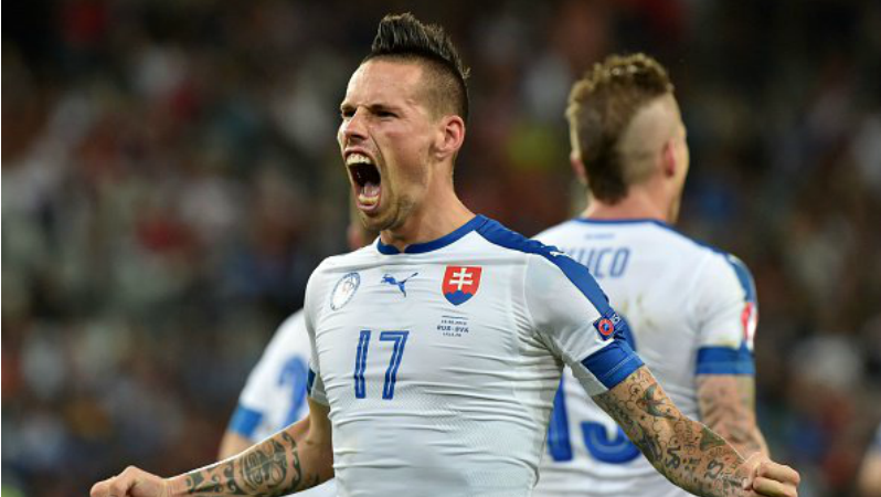 Hamsik stunner leads slovakia to victory over russia for Marek hamsik squadre attuali