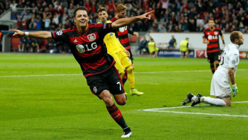 chicharito bayer leverkusen