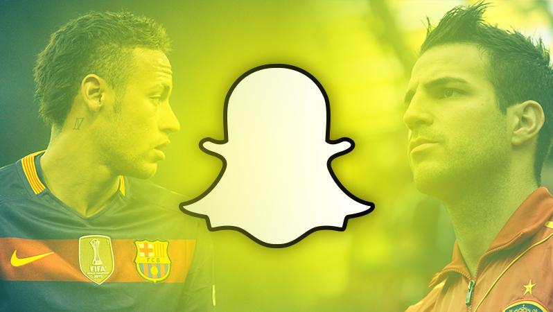 Fussballer Snapchat