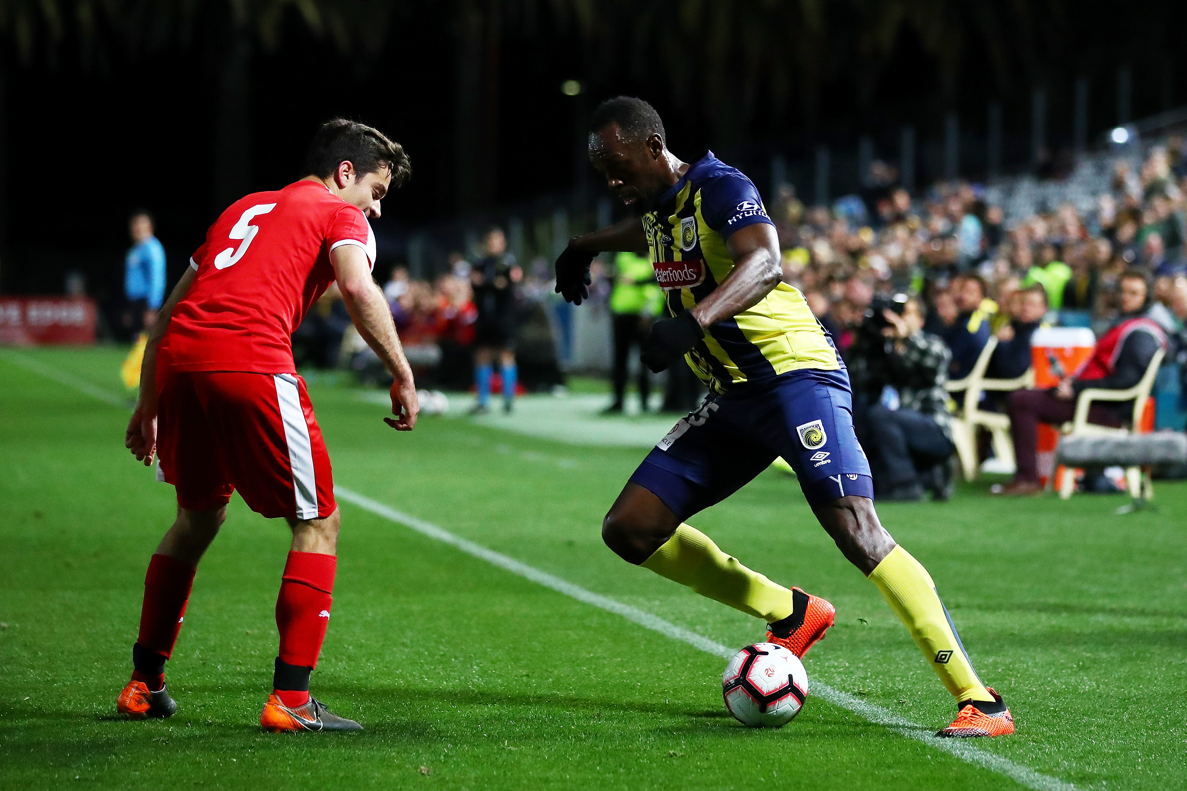 Watch: Usain Bolt Soccer Debut For Central Coast Mariners