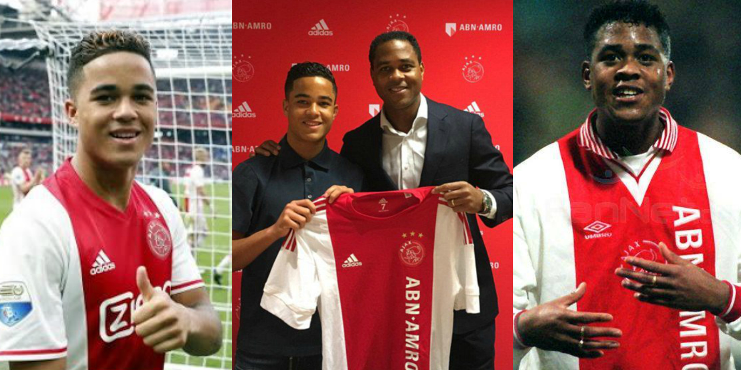 Patrick Kluivert and Justin Kluivert
