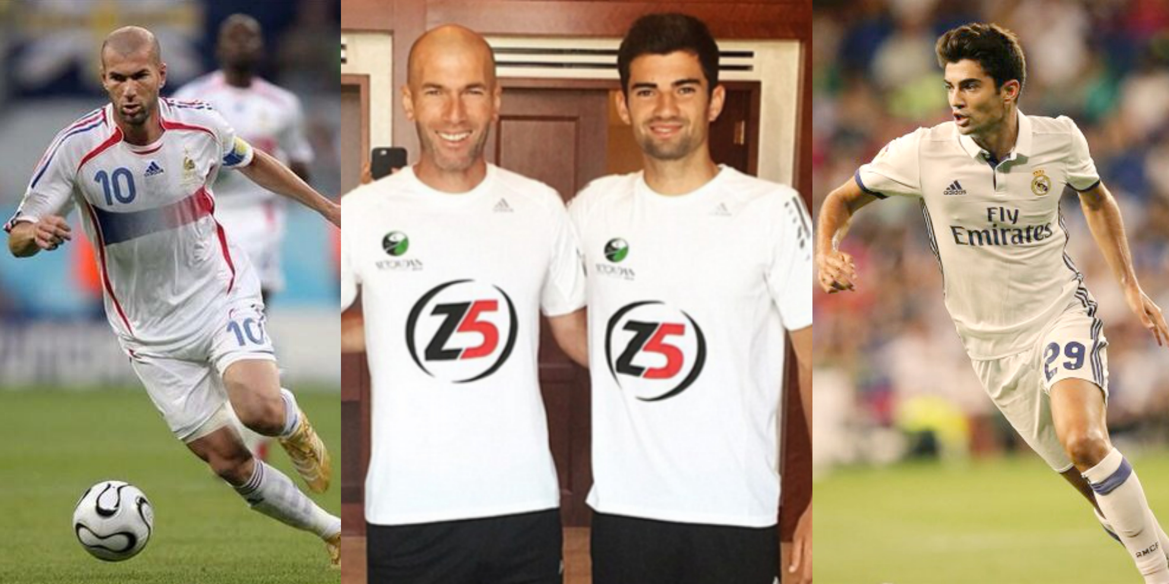 Zinedine Zidane and Enzo Zidane