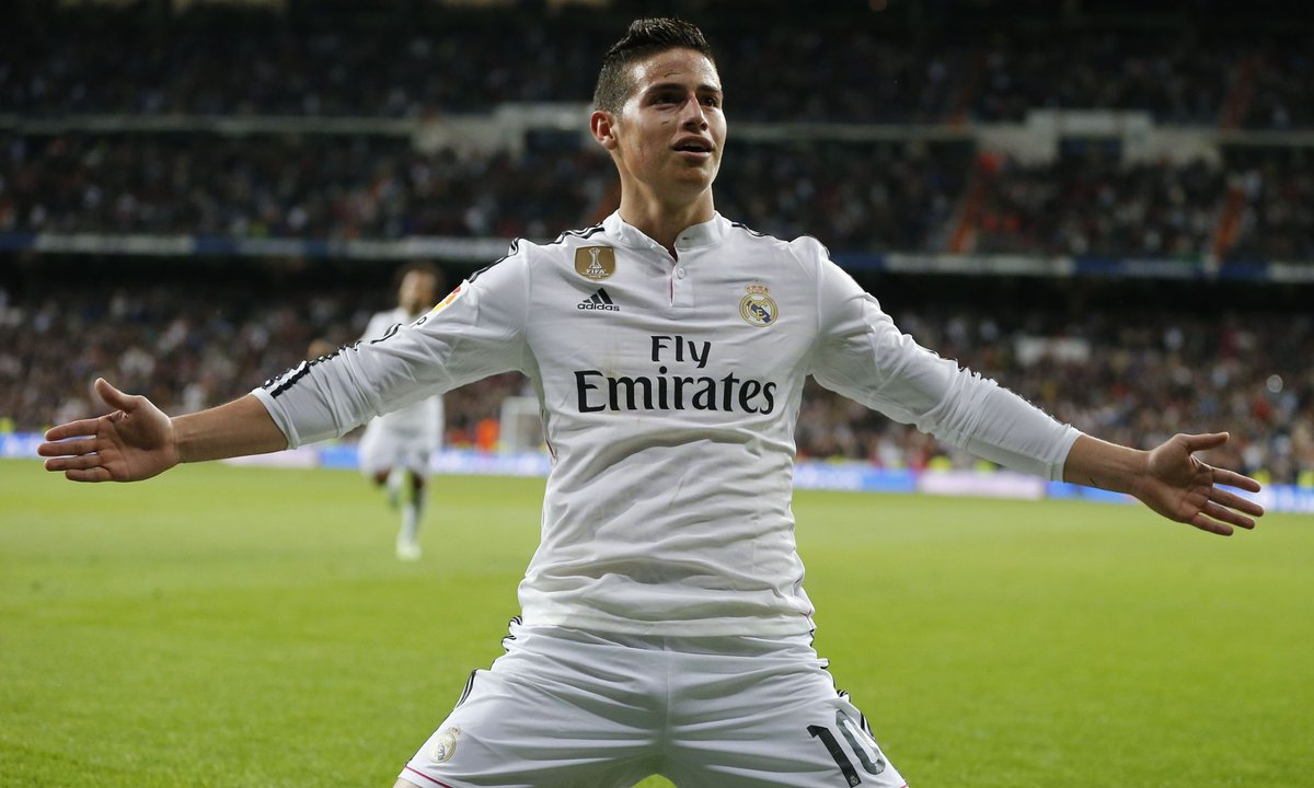 Footballers With The Most Social Media Followers - James Rodriguez