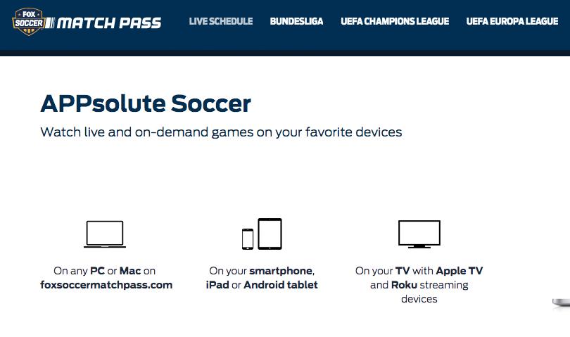 Best Soccer Gifts Online - Fox Soccer Match Pass