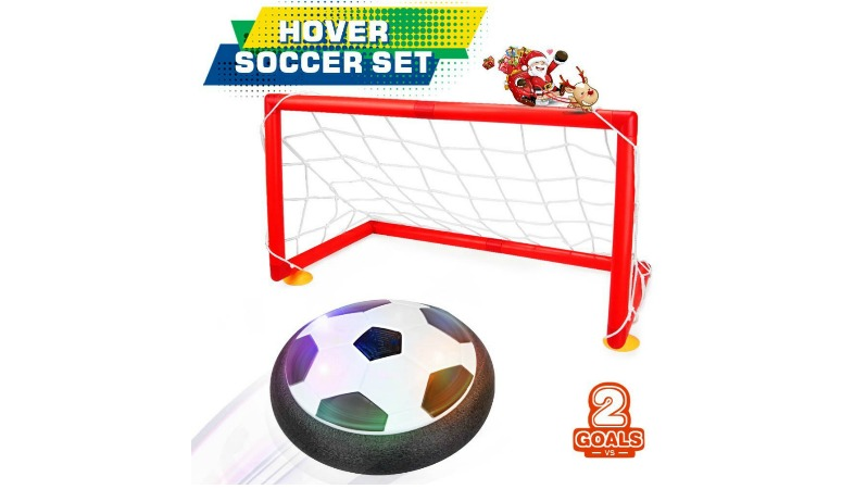Best Soccer Gifts For Kids - LED Hover Soccer Ball With Two Goals