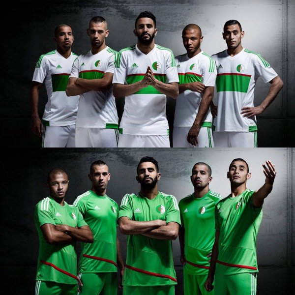 Algeria home and away jerseys