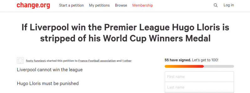 Lloris Petition