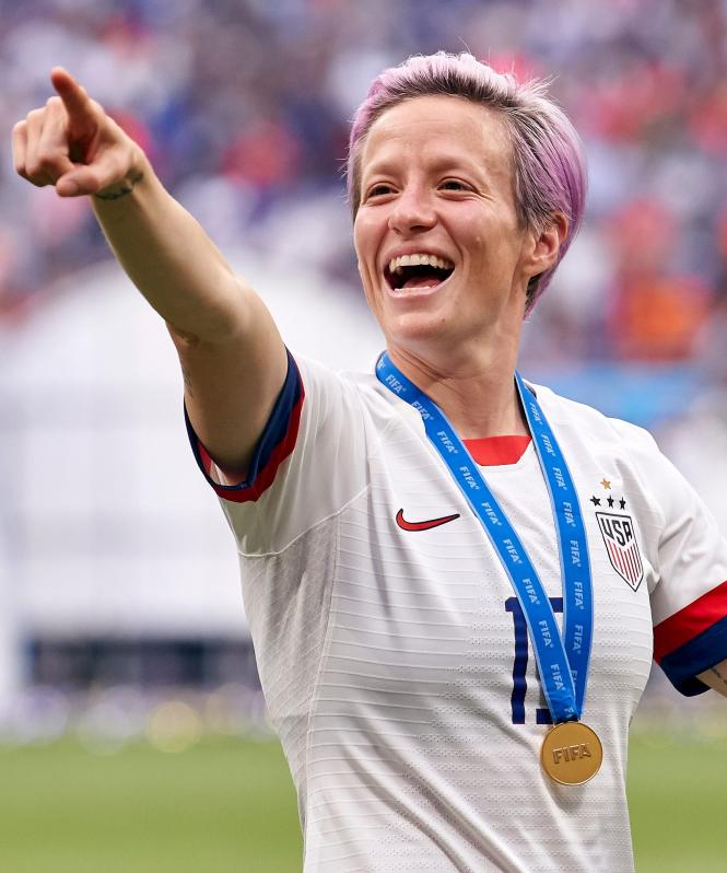 Megan Rapinoe earned the Golden Boot in the 2019 Women's World Cup.