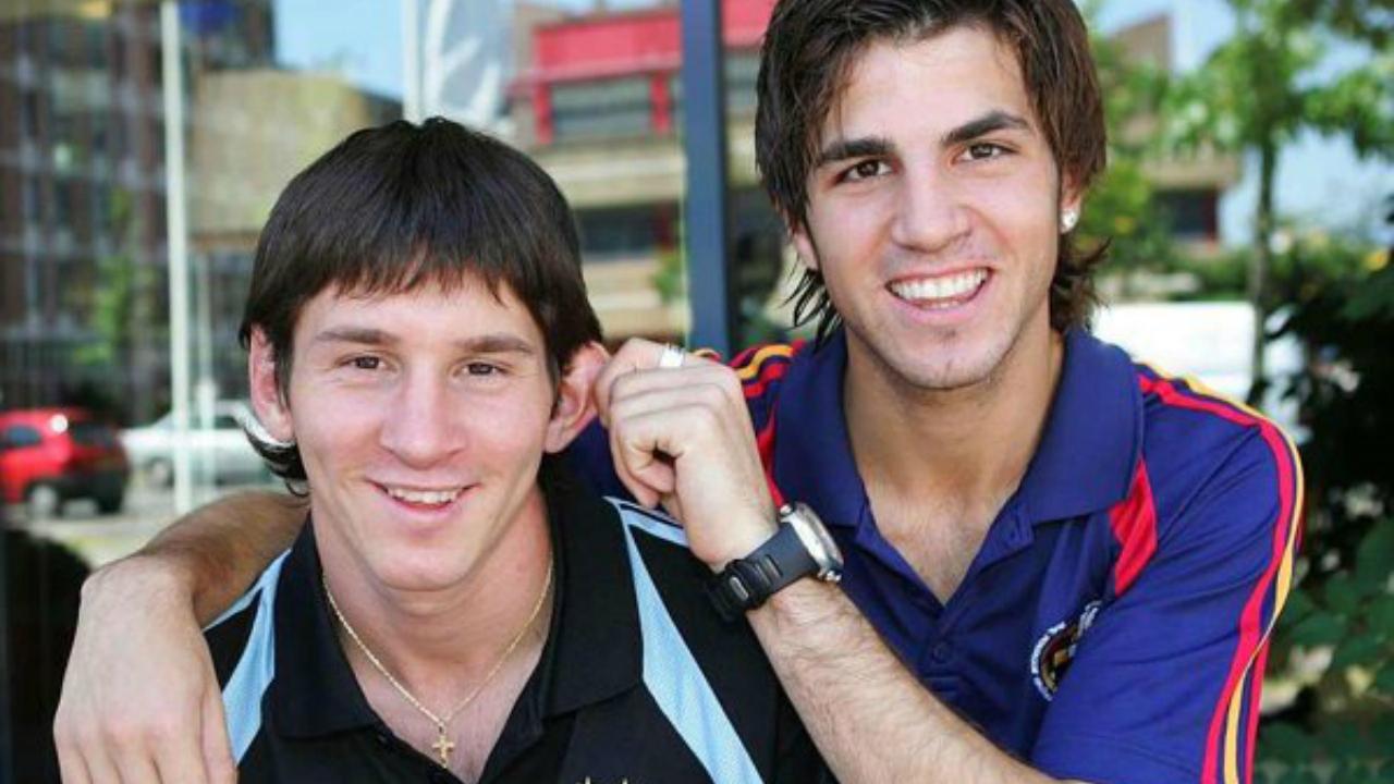 Messi Photos - Messi with Cesc Fàbregas