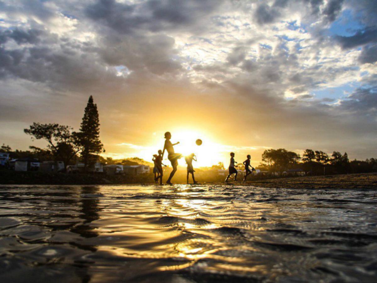 Beach Soccer at Crescent Head, Australia