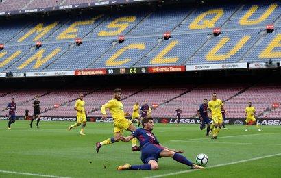 Camp Nou behind closed doors