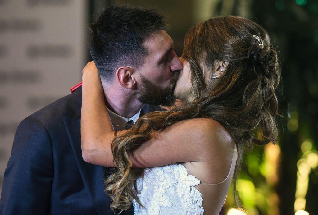 Lionel Messi and Antonela Roccuzzo