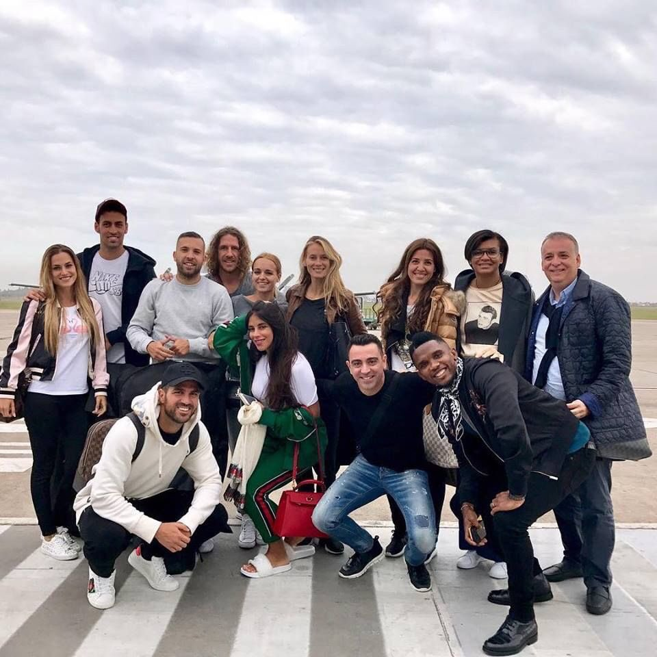 Barcelona legends and WAGs