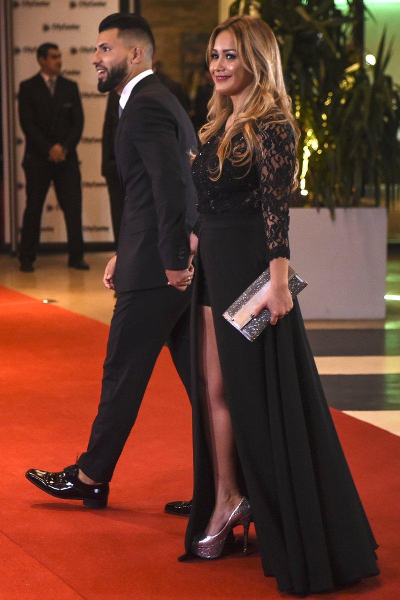 Sergio Aguero and Girlfriend Karina Tejeda