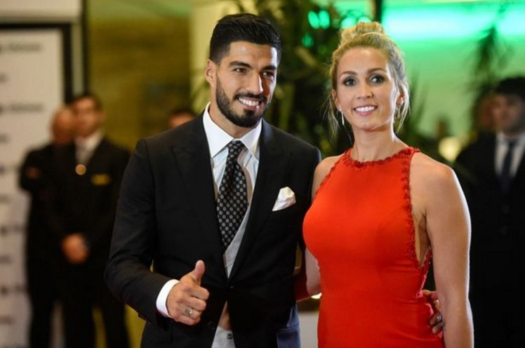 Luis Suarez and Wife Sofia Balbi