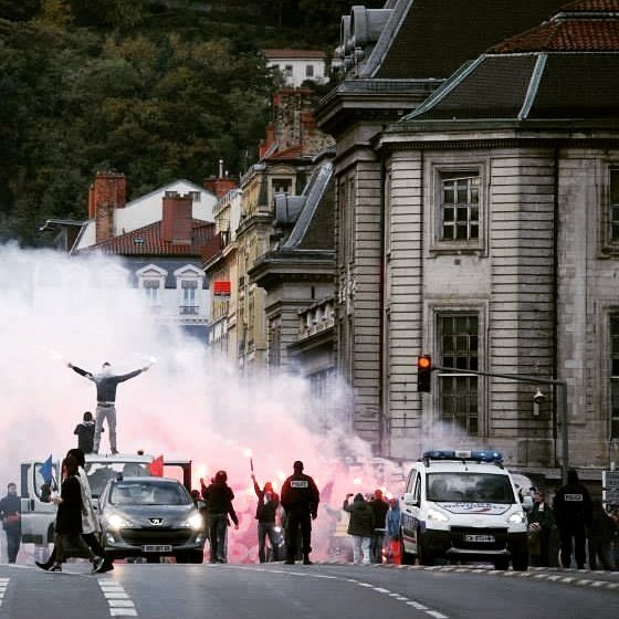 Saint-Etienne supporters take control