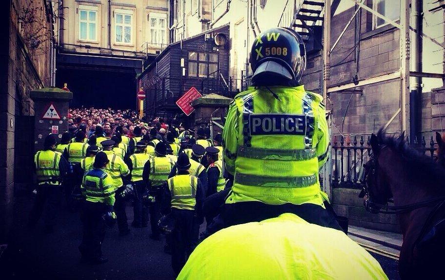 The Tyne-Wear derby in England