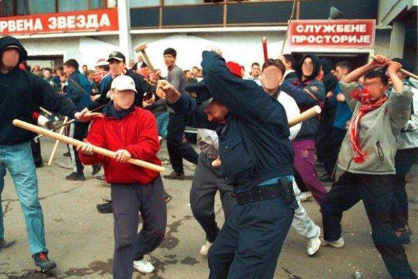 Hooligans Attack a Police Officer