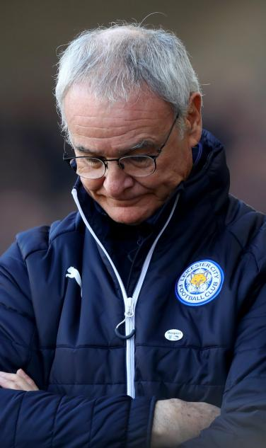 Saddness Expressed by Claudio Ranieri