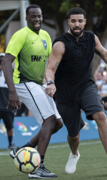 Drake and Draymond Play Footy