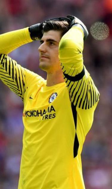 Thibaut Courtois Community Shield Penalty Miss