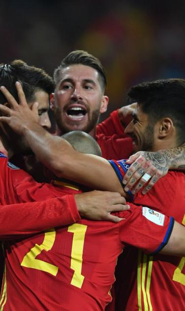 Spanish National Team Celebration VS Liechtenstein
