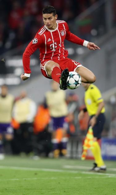 James Rodriguez High Jump Bayern Munich