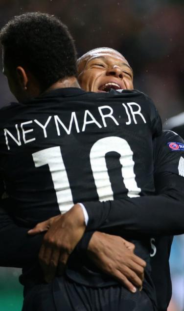 Neymar Jr Kylian Mbappe PSG