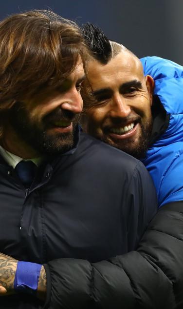 Andrea Pirlo and Arturo Vidal