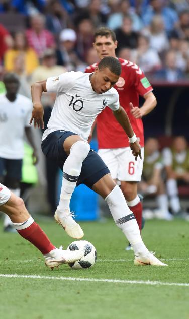 Kylian Mbappe against Denmark