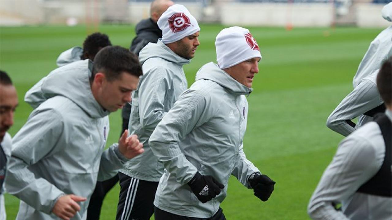 Bastian Schweinsteiger In Training