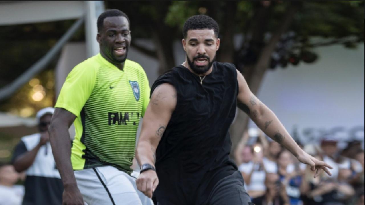 Drake and Draymond Play Footy