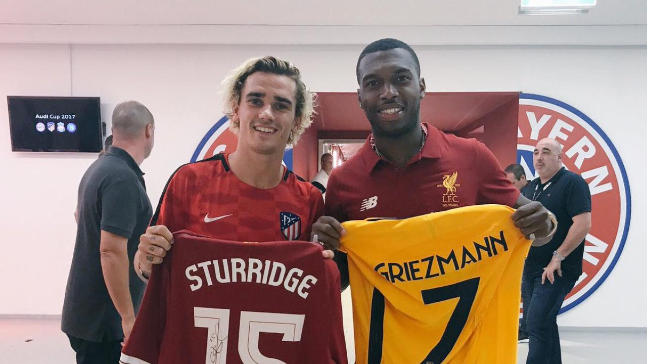 Antoine Griezmann And Daniel Strurridge Trade Jerseys