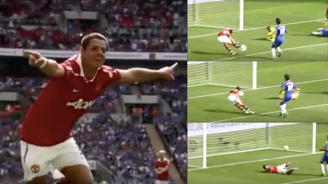 Chicharito FA Community Shield Goal