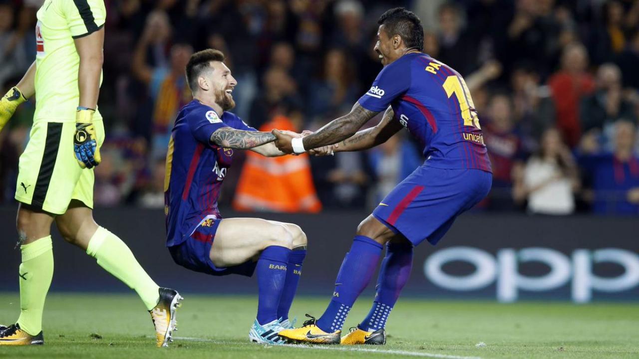 Lionel Messi Paulinho Barcelona