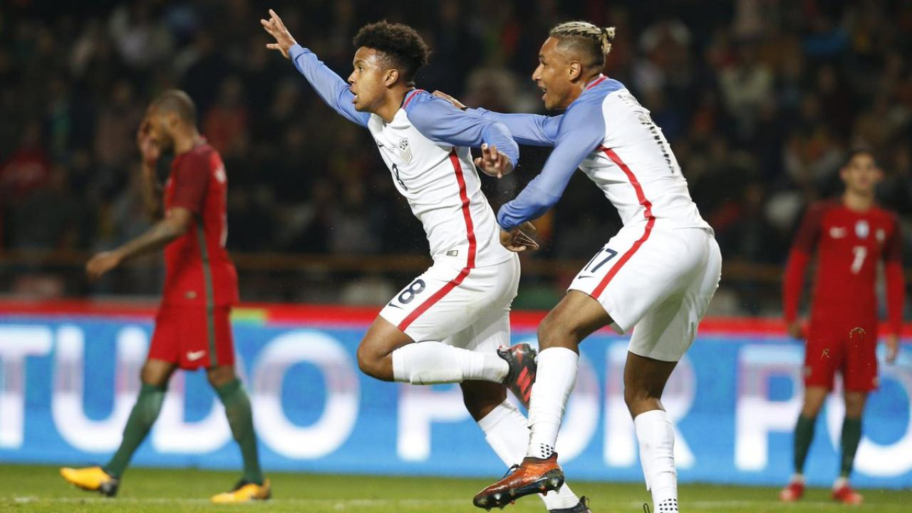 Weston McKennie Debut Goal USMNT
