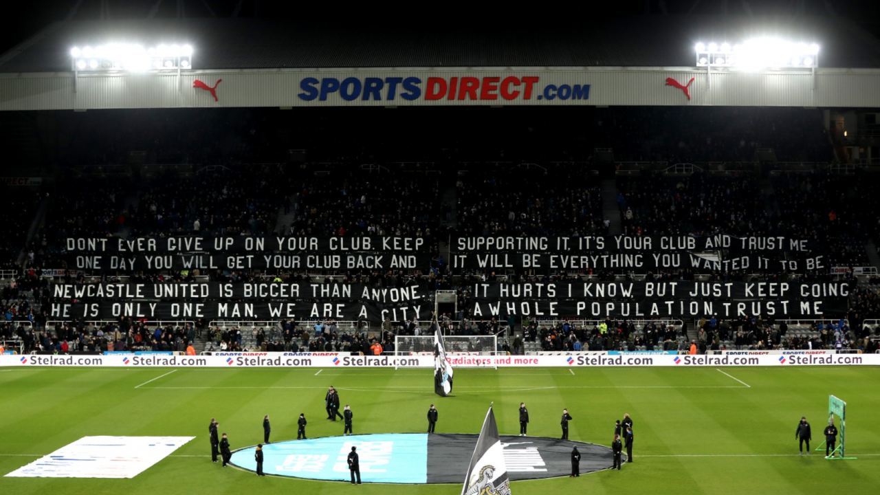 Newcastle Fans Banner