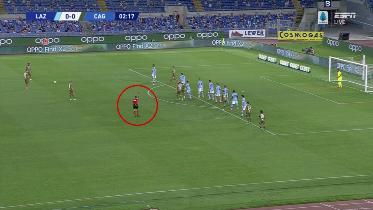 Disallowed João Pedro Free Kick vs Lazio