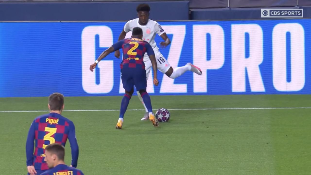 Assist From Alphonso Davies vs Barcelona