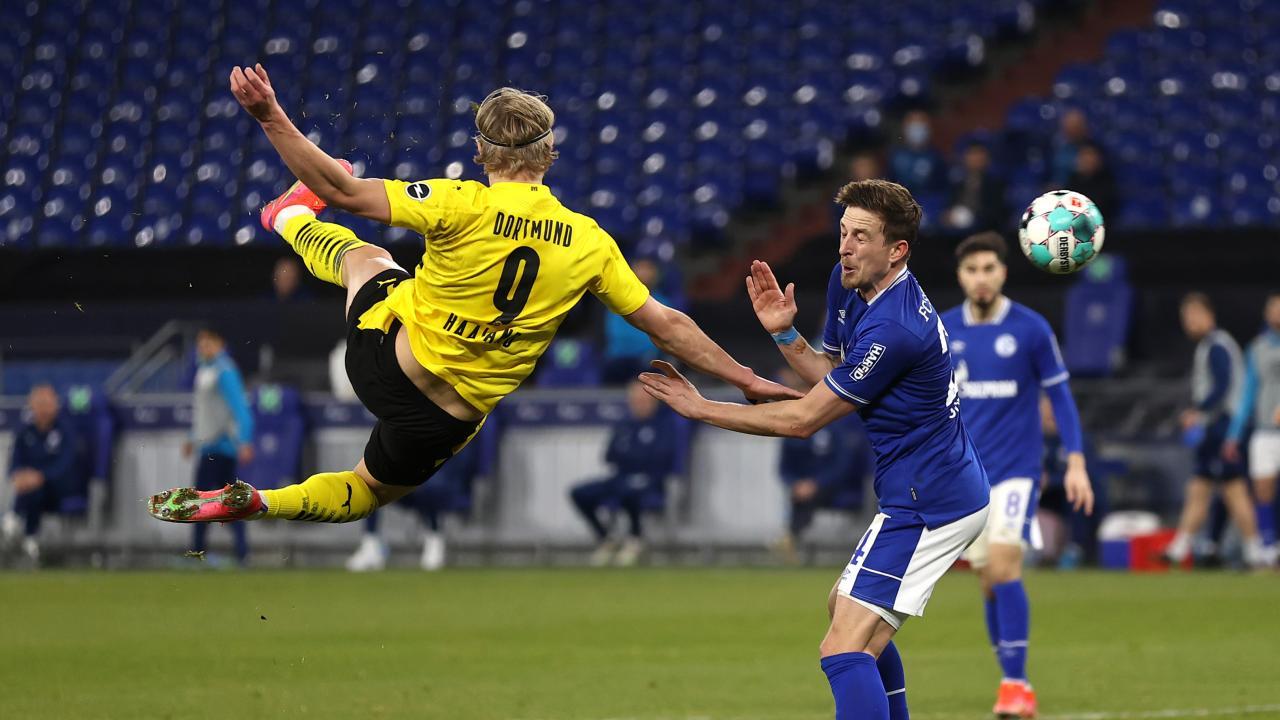 Erling Haaland Volley vs Schalke