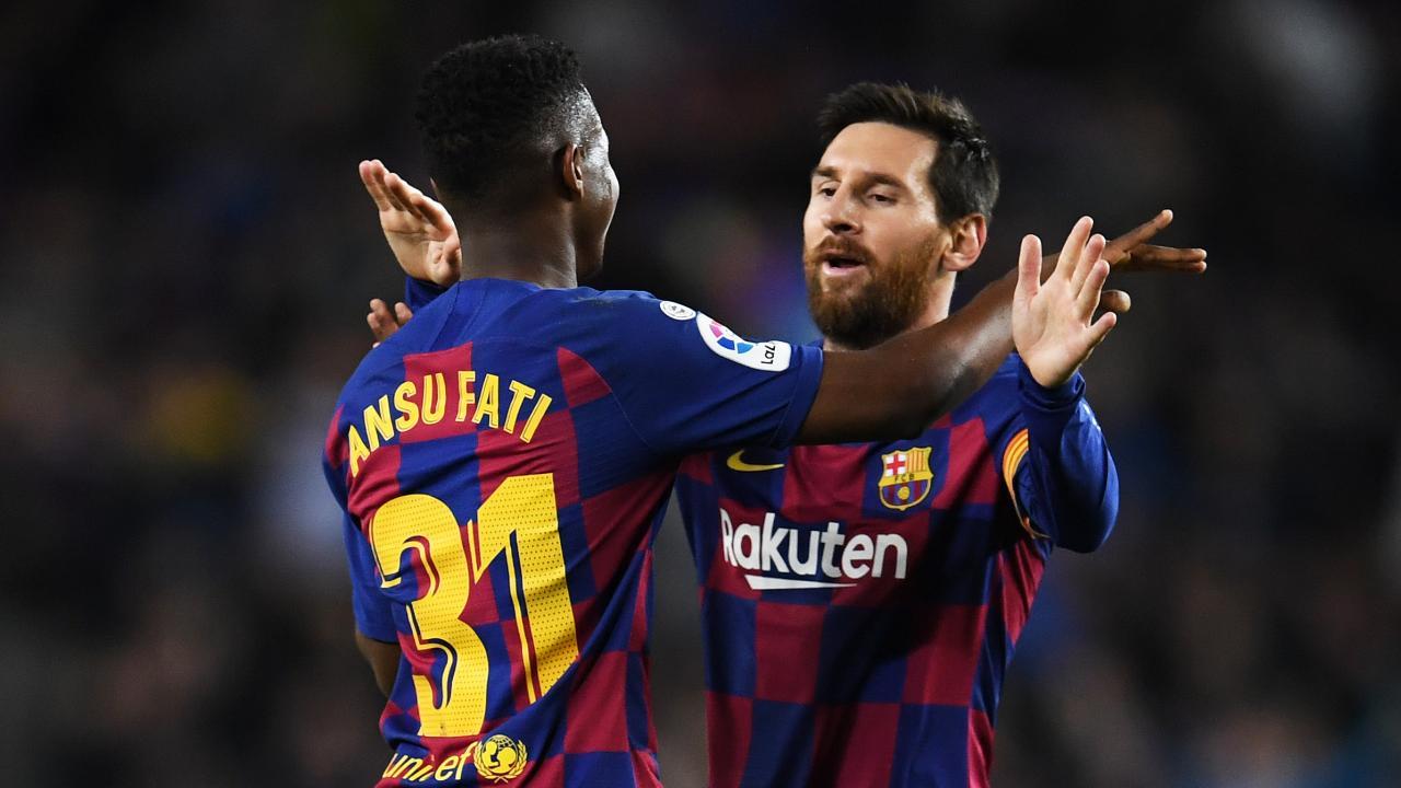 Lionel Messi and Ansu Fati