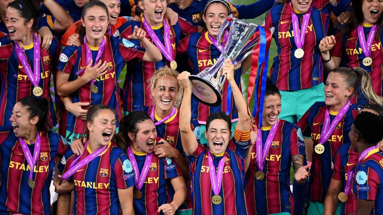 Barcelona Celebrates Winning The Champions League