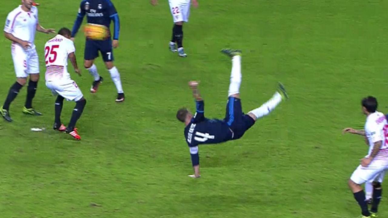 Sergio Ramos mid bicycle kick