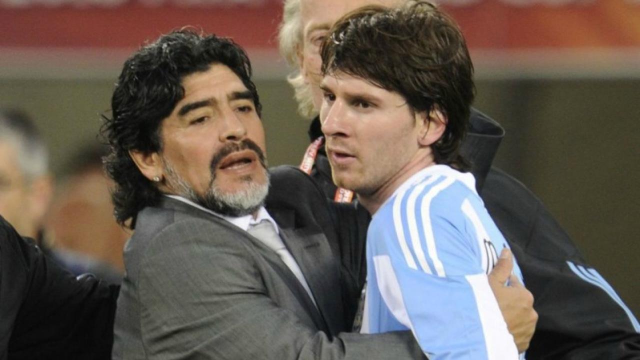 Diego Maradona says Lionel Messi has no personality.