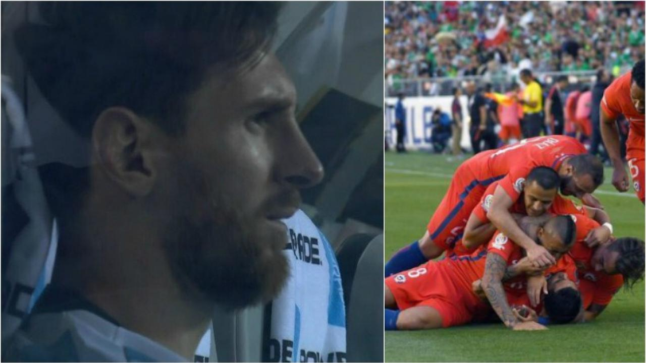 Messi Copa America Chile penalty miss