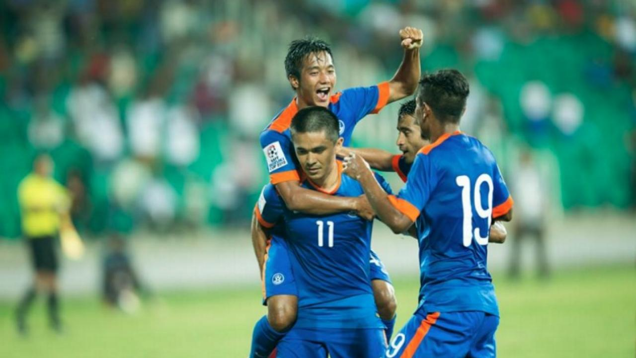 Chhangte Lallianzuala celebrates after becoming India's youngest goal scorer