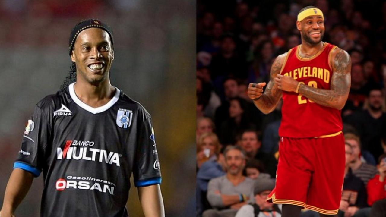 Lebron James and Ronaldinho