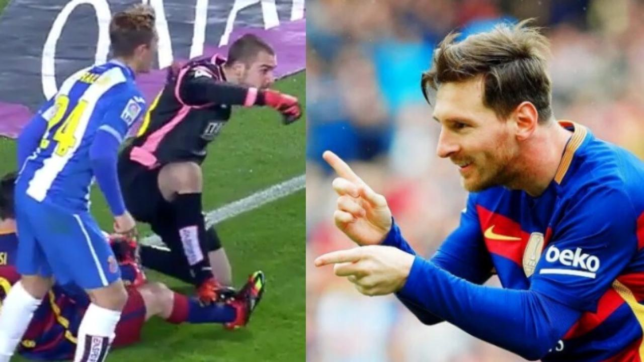 Messi Taunts Pau Lopez After Scoring Penalty (Video)