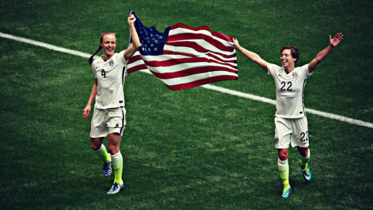 The USWNT Celebrates Their 2015 World Cup Win